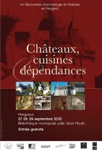"""Affiche """"Châteaux, cuisines et dépendances"""""""