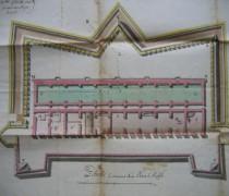 Les douves de Toulon. Le plan de l'Impluvium du mont Faron à Toulon est le projet de 1762 du carton 5 de l'article 8 section 1, Toulon des archives du Génie (SHD, Vincennes)