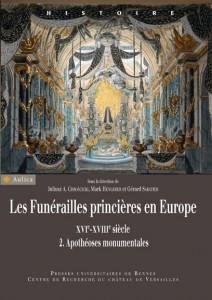 """Couverture """"Les funérailles princières en Europe. Tome 2"""""""