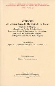 Couverture Mémoires de Messire Jean de Plantavit de La Pause : Livre troisième