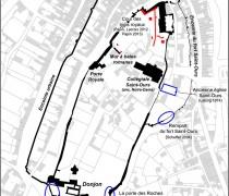 Figure 1 : Plan général de la forteresse de Loches, fond cadastral