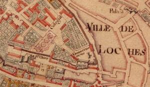 Figure 2 : Plan de Lhuilier de la Serre (1751-1756) - Bibliothèque municipale de Loches.