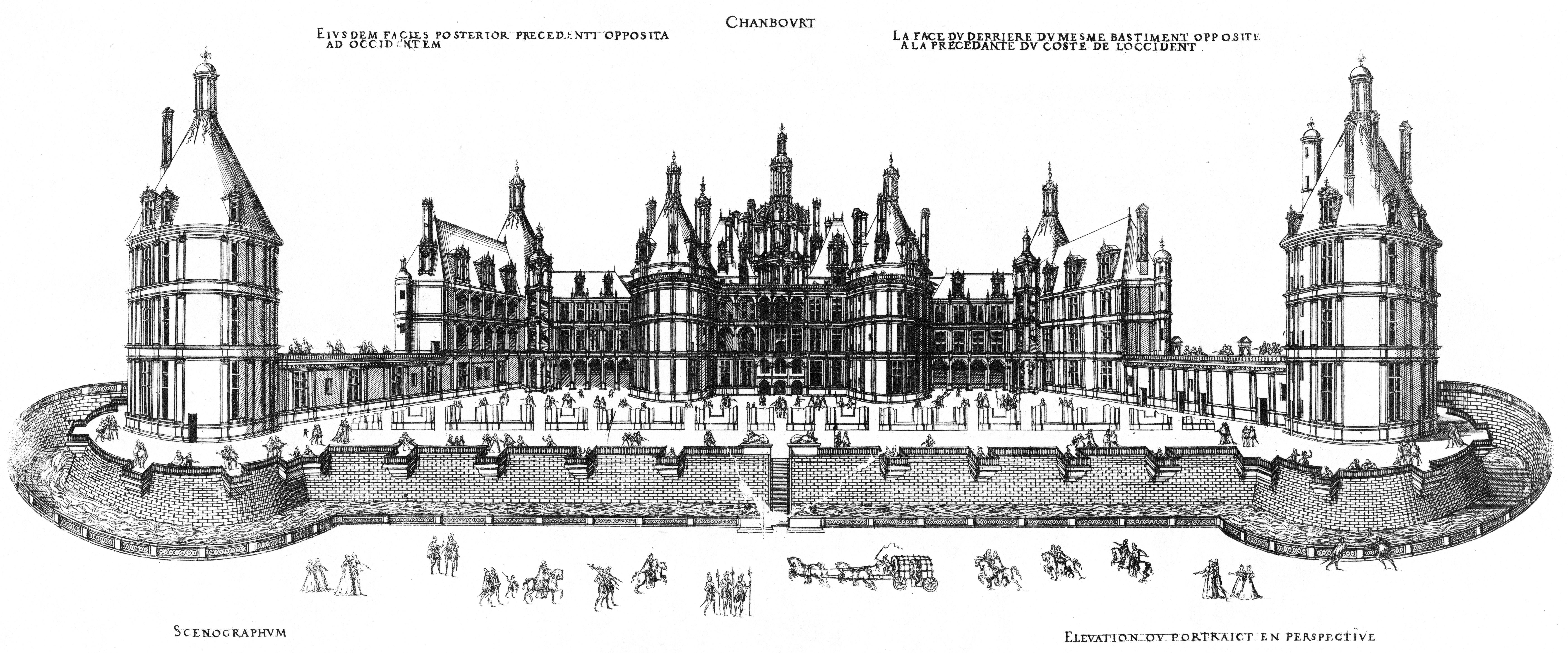 Le chantier de chambord en 1522 rihvage for Photos du plan de construction